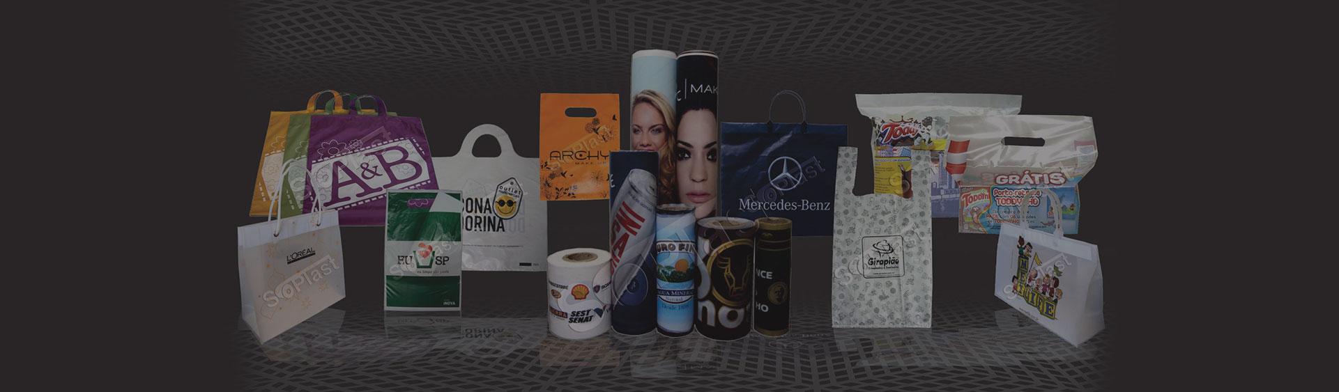 Sacolas e embalagens personalizadas com sua logomarca